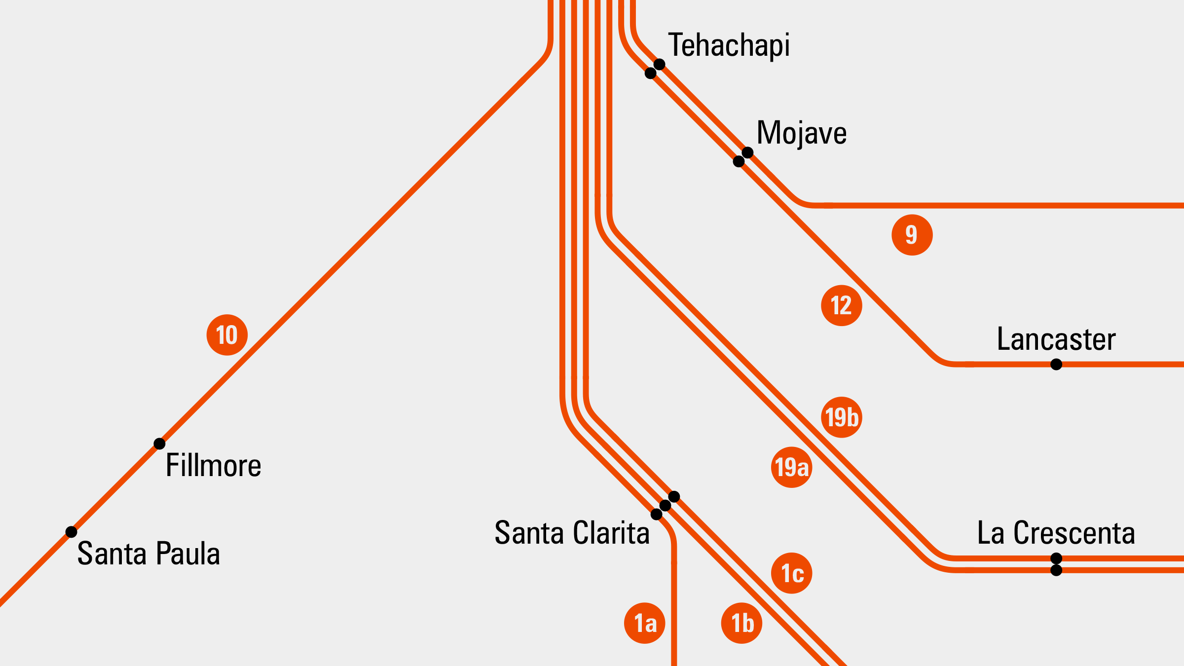 California Rail Map